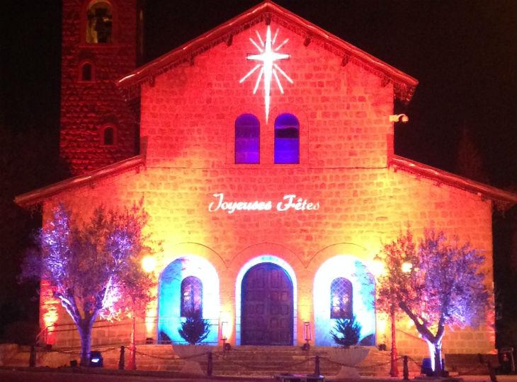 illuminations de l'église de Roquebillière